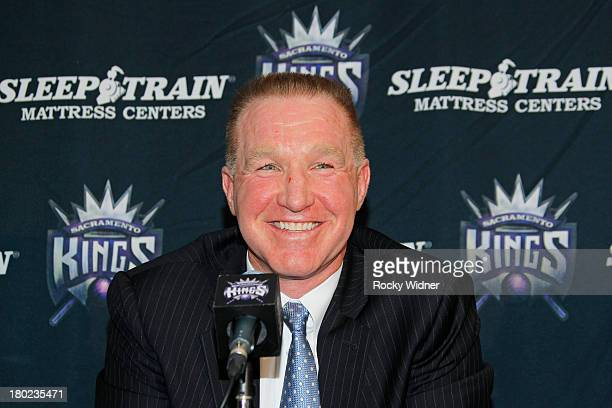 Chris Mullin is introduced to the media in is new position as Advisor to the Chairman with the Sacramento Kings on September 10 2013 at the Kings...