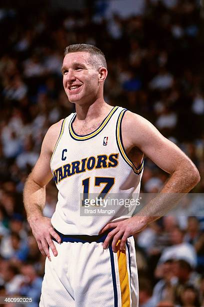 Chris Mullin of the Golden State Warriors looks on during a game played circa 1995 at the Oakland Coliseum in Oakland California NOTE TO USER User...