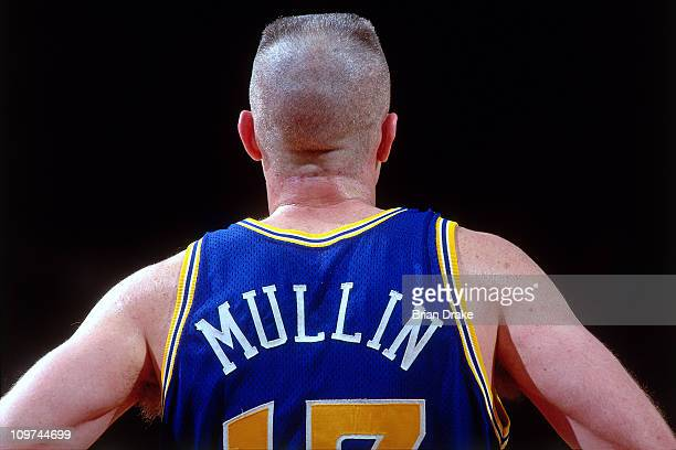 Chris Mullin of the Golden State Warriors stands against the Portland Trailblazers circa 1993 at the Veterans Memorial Coliseum in Portland Oregon...