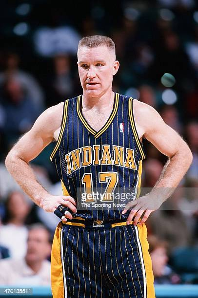 Chris Mullin of the Indiana Pacers during the game against the Charlotte Hornets on November 4 1999 at Charlotte Coliseum in Charlotte North Carolina