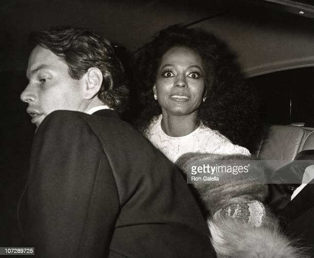 Chris Naess and Diana Ross during 90th Birthday Celebration of The Prince of Art Deco Erte November 9 1982 at Dyansen Gallery in New York City New...