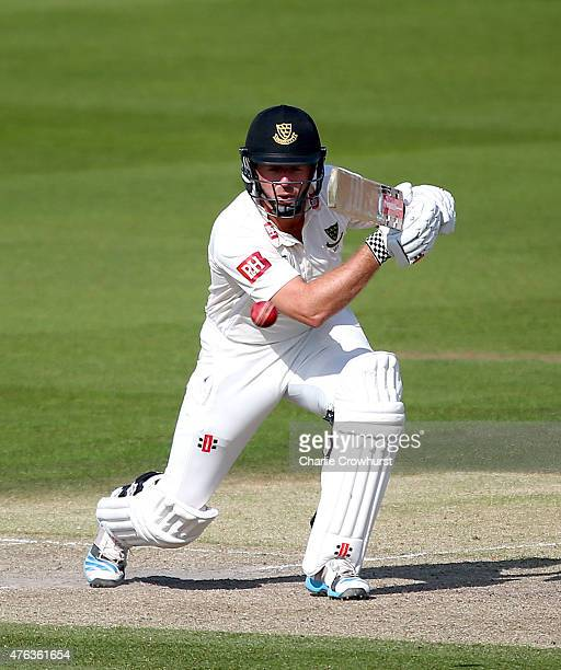 Chris Nash of Sussex hits out during day two of the LV County Championship match between Sussex and Hampshire at The BrightonandHoveJobscom County...
