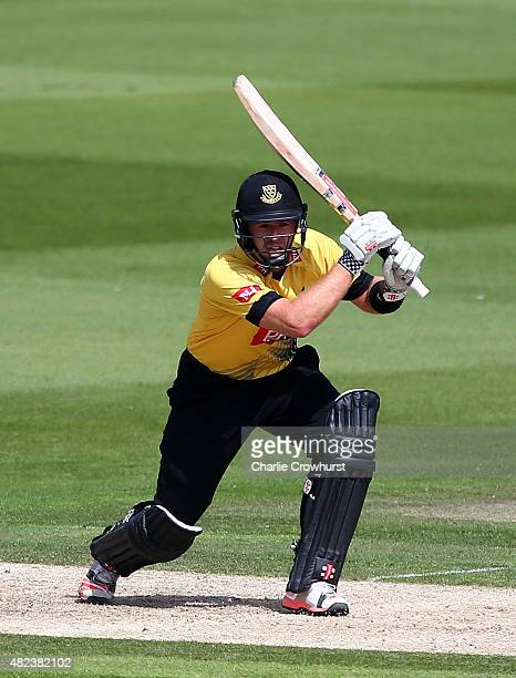 Chris Nash of Sussex hits out during the Royal London OneDay Cup match between Sussex and Nottinghamshire at The BrightonandHoveJobscom County Ground...