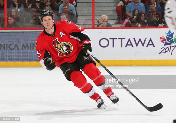 Chris Neil of the Ottawa Senators skates against the New York Islanders at Canadian Tire Centre on December 5 2015 in Ottawa Ontario Canada