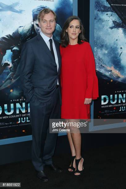 Chris Nolan and Emma Thomas attend the US premiere of 'Dunkirk' at AMC Loews Lincoln Square IMAX on July 18 2017 in New York City