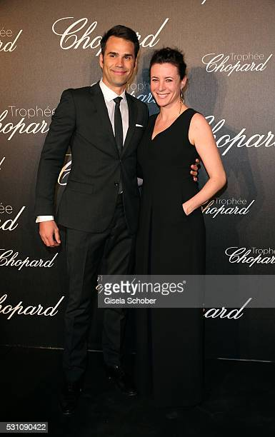 Chris Norton and Garance Dore arrive at the Chopard Trophy Ceremony at the annual 69th Cannes Film Festival at Hotel Martinez on May 12 2016 in...