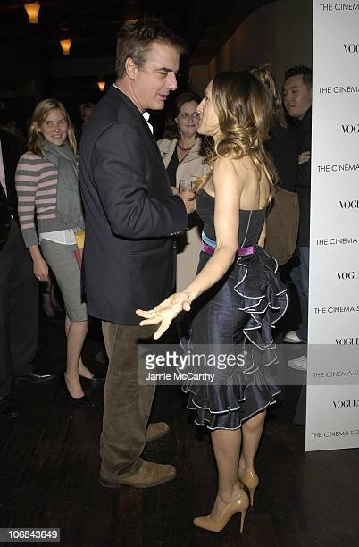 Chris Noth and Sarah Jessica Parker during The Cinema Society and Vogue Present 'The Family Stone' Hosted by Sarah Jessica Parker and Oscar de la...
