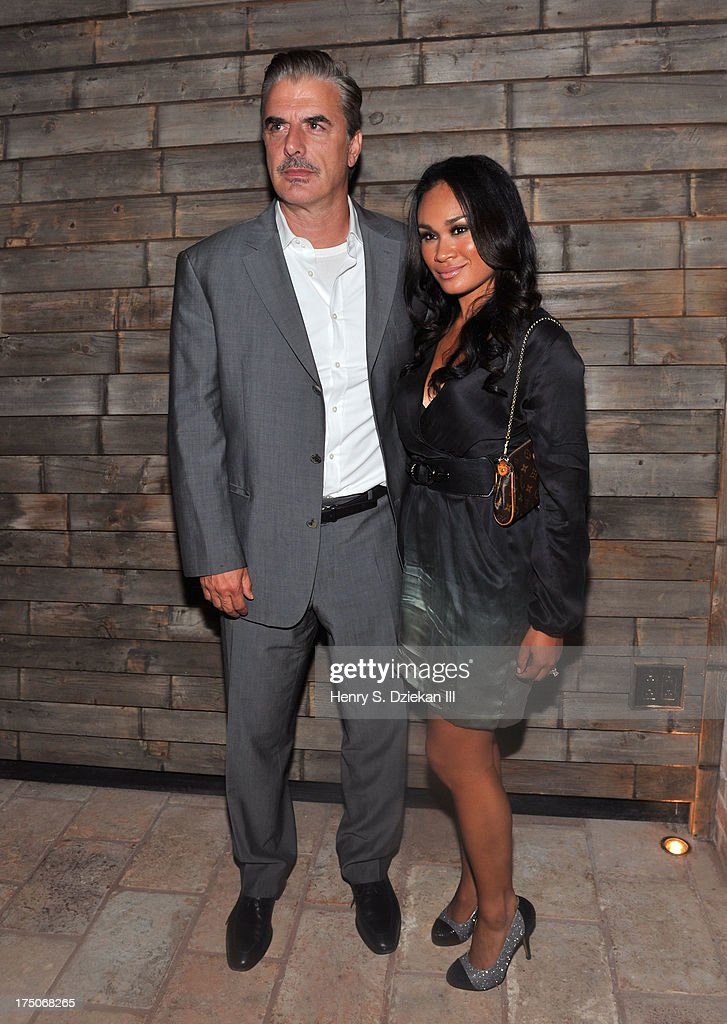 Chris Noth and Tara Wilson attend The Cinema Society and MCM with Grey Goose screening of Radius TWC's 'Lovelace' after party at Refinery Rooftop on July 30, 2013 in New York City.