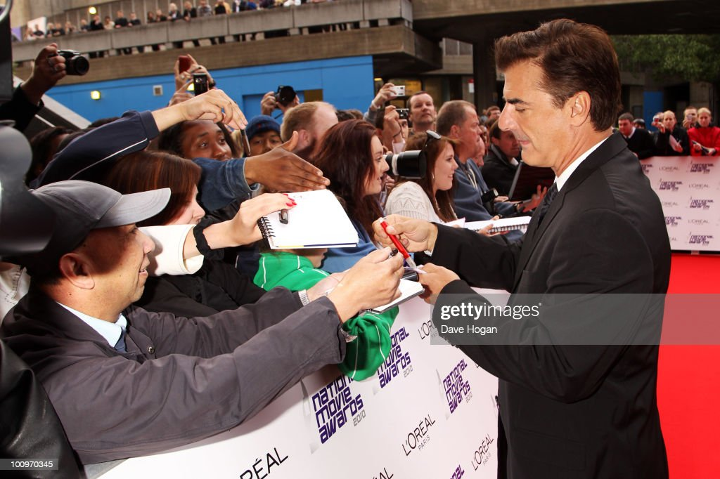 Chris Noth arrives at The National Movie Awards 2010 held at The Royal Festival Hall on May 26 2010 in London England