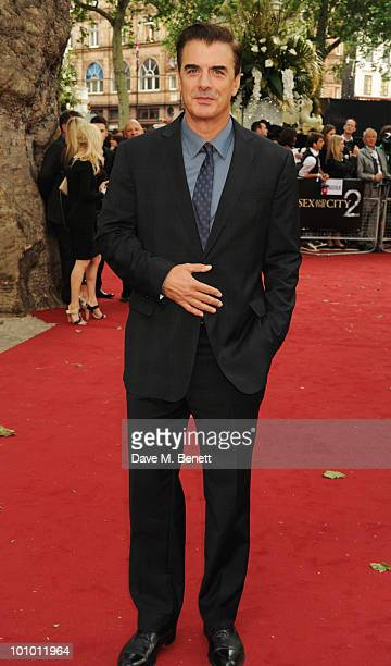 Chris Noth arrives at the UK film premiere of 'Sex and the City 2' at Odeon Leicester Square on May 27 2010 in London England