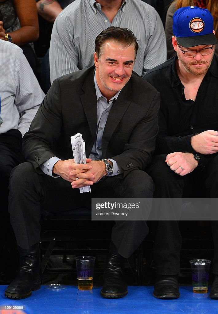 Chris Noth attends the Boston Celtics vs New York Knicks game at Madison Square Garden on January 7, 2013 in New York City.