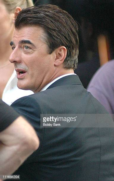Chris Noth during 'Law Order Criminal Intent' On Location in New York City July 31 2006 in New York City New York United States
