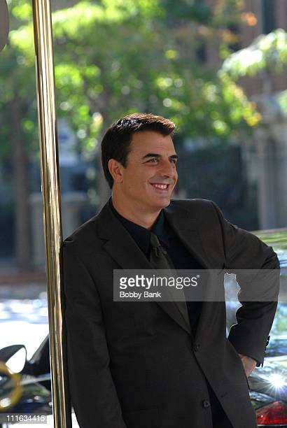 Chris Noth stands on Location for Sex and The City The Movie on Fifth Avenue's Museum Mile New York City September 19 2007