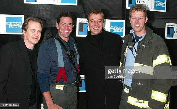 Chris Noth Steve Buscemi of 'Double Whammy' with New York firefighters of Ladder Co 10