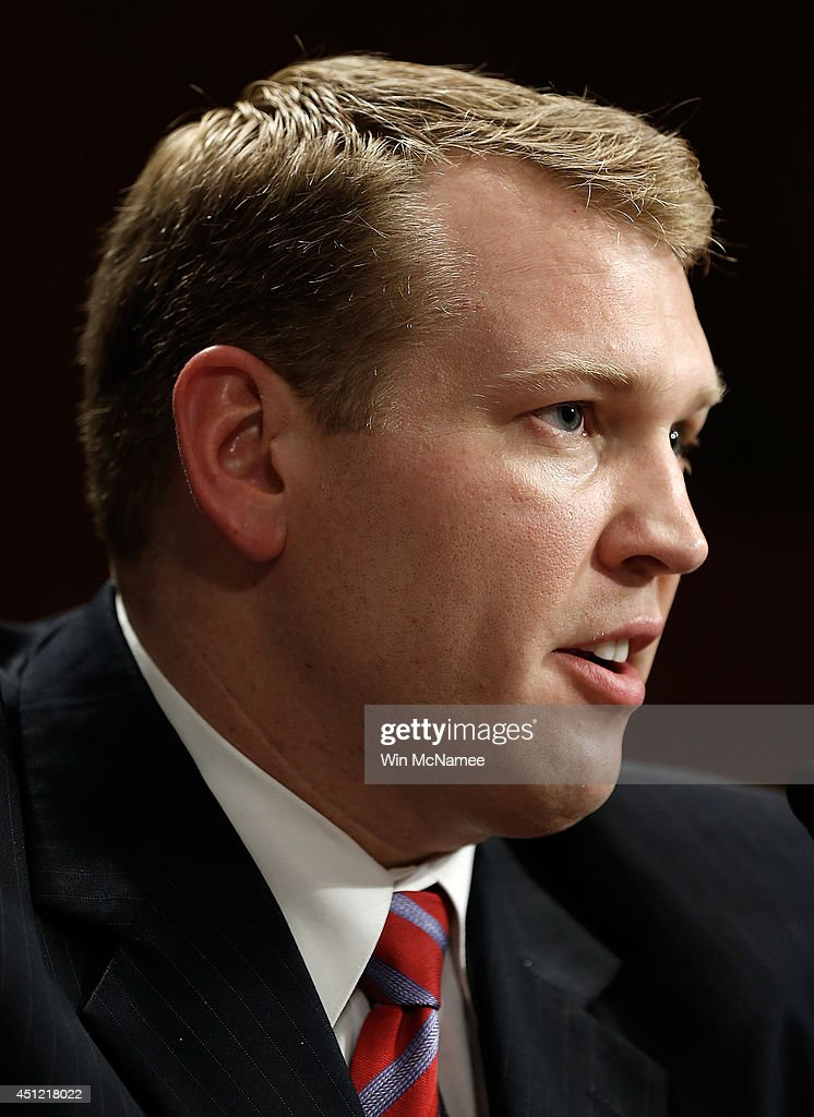 Chris Nowinski, former professional wrestler for World Wrestling Entertainment, and founding executive director of the Sports Legacy Institute, testifies before the Senate Special Committee on Aging June 25, 2014 in Washington, DC. The committee heard testimony on the 'State of Play: Brain Injuries and Diseases of Aging.'