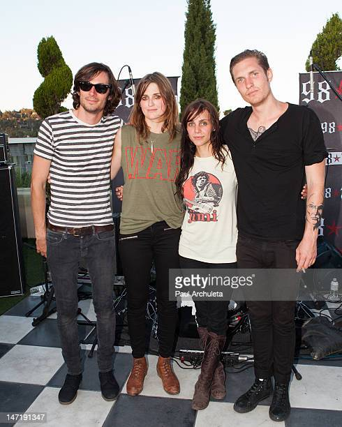 Chris Null Emily Armstrong Siouxsie Medley and Sean Friday of the Rock Band Dead Sara attend the 987fm Warped Tour encore party at The Historic...