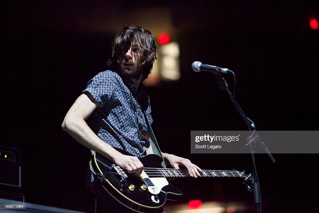 Chris Null of Dead Sara performs at Joe Louis Arena on March 2, 2013 in Detroit, Michigan.