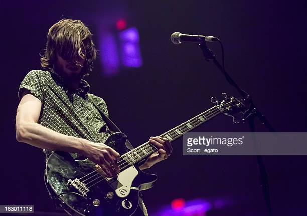 Chris Null of Dead Sara performs at Joe Louis Arena on March 2 2013 in Detroit Michigan