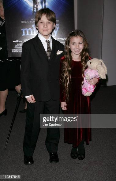 Chris O' Neil and Rhiannon Leigh Wryn during 'The Last Mimzy' New York Premiere Arrivals at American Museum of Natural History in New York City New...