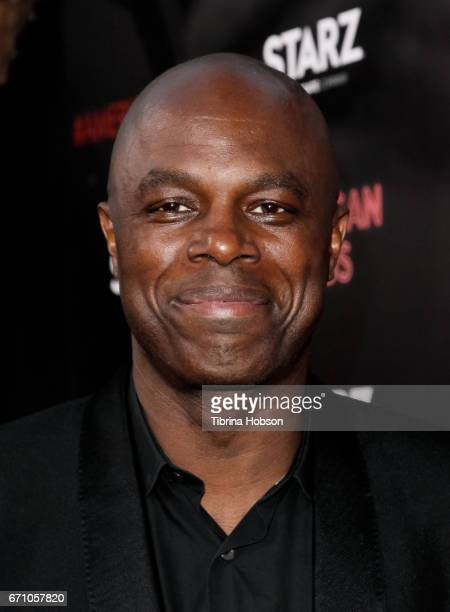 Chris Obi attends the premiere of Starz's 'American Gods' at ArcLight Cinemas Cinerama Dome on April 20 2017 in Hollywood California