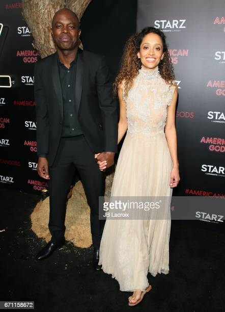 Chris Obi attends the premiere Of Starz's 'American Gods' on April 20 2017 in Hollywood California