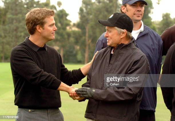 Chris O'Donnell and Michael Douglas at the 6th Annual Golf Classic benefiting the Elizabeth Glaser Pediatric AIDS Foundation