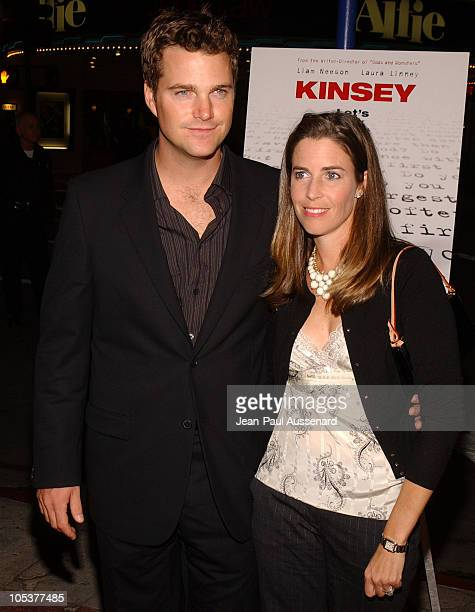 Chris O'Donnell and wife during 'Kinsey' Los Angeles Premiere Arrivals at Mann Village in Westwood California United States