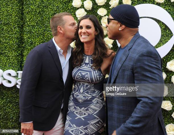 Chris O'Donnell Daniela Ruah and LL Cool J arrive at the 2017 Summer TCA Tour CBS Television Studios' Summer Soiree at CBS Studios Radford on August...