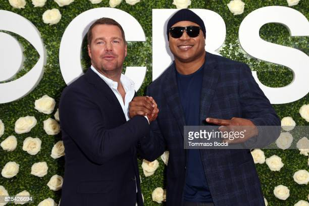 Chris O'Donnell LL and Cool J attend the 2017 Summer TCA Tour CBS Television Studios' Summer Soiree at CBS Studios Radford on August 1 2017 in Studio...