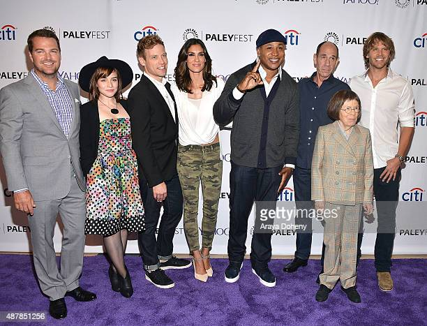 Chris O'Donnell Renee Felice Smith Barrett Foa Daniela Ruah LL Cool J Miguel Ferrer Linda Hunt and Eric Christian Olsen attend The Paley Center for...
