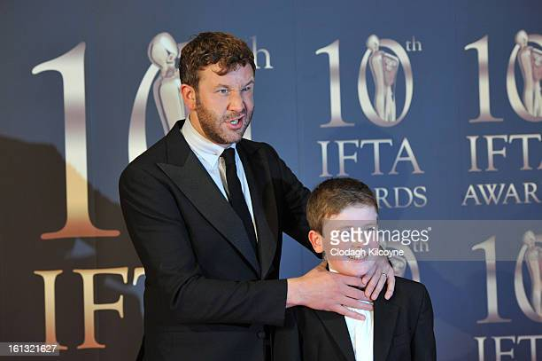 Chris O'Dowd and David Rawle attends the Irish Film and Television Awards at Convention Centre Dublin on February 9 2013 in Dublin Ireland