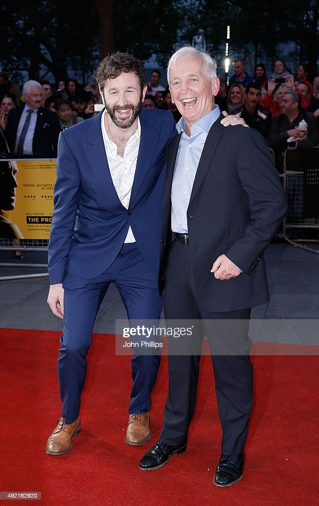 Chris O'Dowd and David Walsh attend the 'The Program' screening, during the BFI London Film Festival, at Vue Leicester Square on October 10, 2015 in London, England.