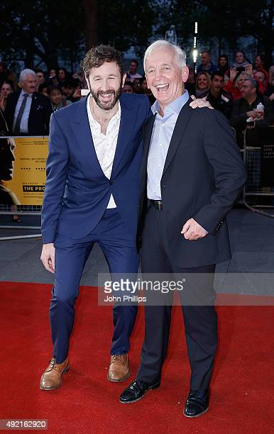 Chris O'Dowd and David Walsh attend the 'The Program' screening during the BFI London Film Festival at Vue Leicester Square on October 10 2015 in...