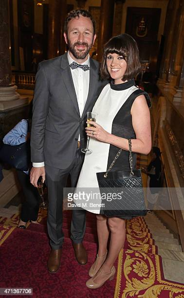 Chris O'Dowd and Dawn O'Porter attend the LDNY show and WIE Award gala sponsored by Maserati at Goldsmith Hall on April 27 2015 in London England