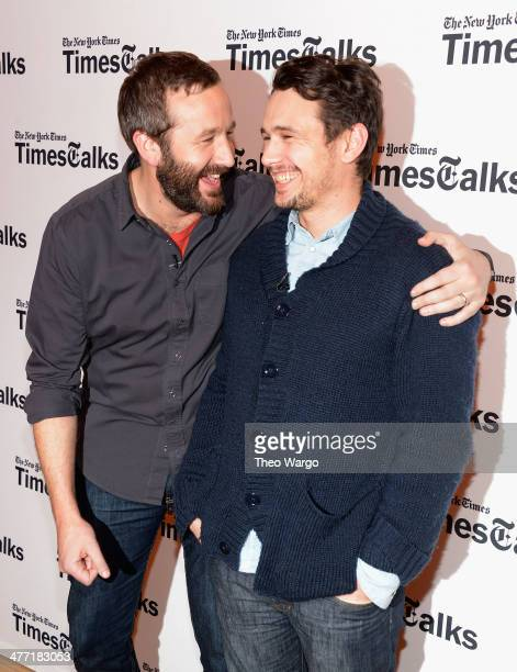 Chris O'Dowd and James Franco attend TimesTalks at TheTimesCenter on March 7 2014 in New York City