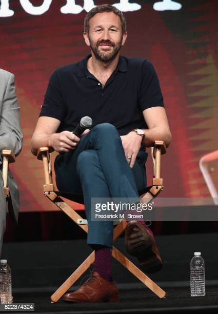 Chris O'Dowd of the series 'Get Shorty' speak onstage during the EPIX portion of the 2017 Summer Television Critics Association Press Tour at The...