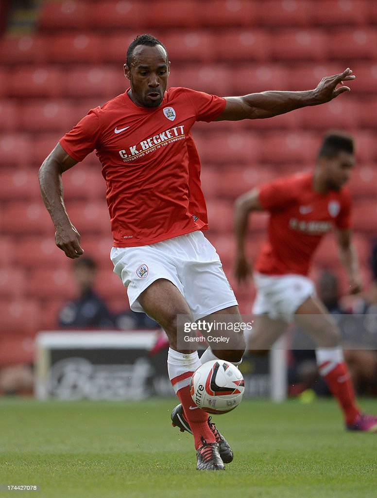Chris O'Grady of Barnsley during a Pre Season Friendly between Barnsley and Bordeaux at Oakwell Stadium on July 25, 2013 in Barnsley, England.