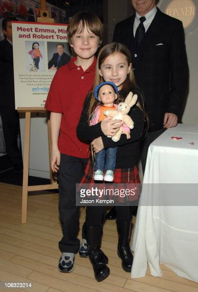 Chris O'Neil and Rhiannon Leigh Wryn during 'The Last Mimzy' Doll Signing At FAO Schwarz March 19 2007 at FAO Schwarz in New York City New York...