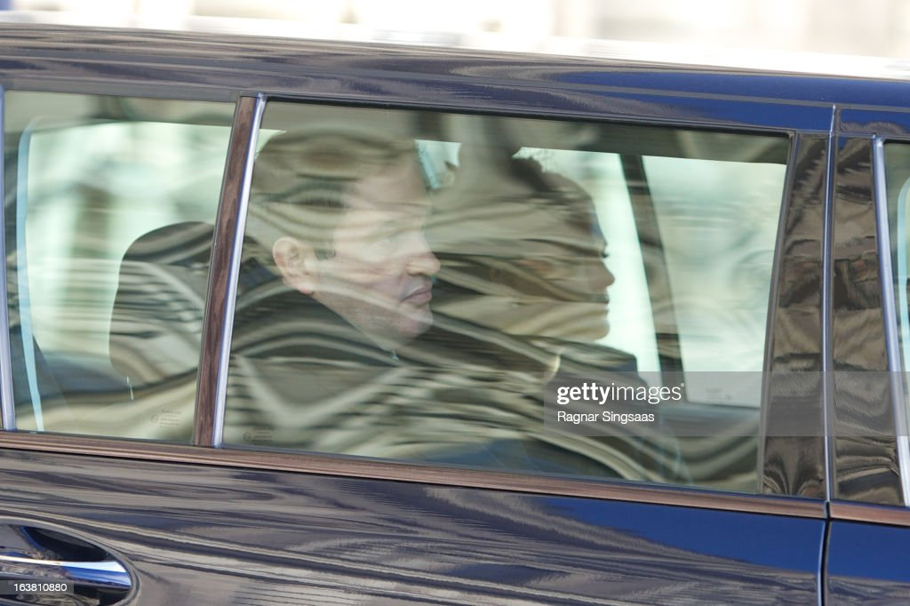 Chris O'Neill and <a gi-track='captionPersonalityLinkClicked' href=/galleries/search?phrase=Princess+Madeleine+of+Sweden&family=editorial&specificpeople=160243 ng-click='$event.stopPropagation()'>Princess Madeleine of Sweden</a> attend the funeral of Princess Lilian Of Sweden on March 16, 2013 in Stockholm, Sweden.