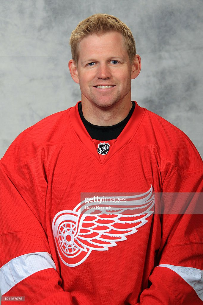Chris Osgood #30 of the Detroit Red Wings poses for his official headshot for the 2010-2011 NHL season at Centre Ice Arena on September 17, 2010 in Traverse City, Michigan.