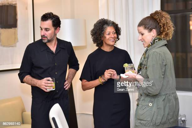 Chris Osvai Angela Brown and Jodi Cohan attend Tom Faulkner at Angela Brown Ltd on October 18 2017 in New York City