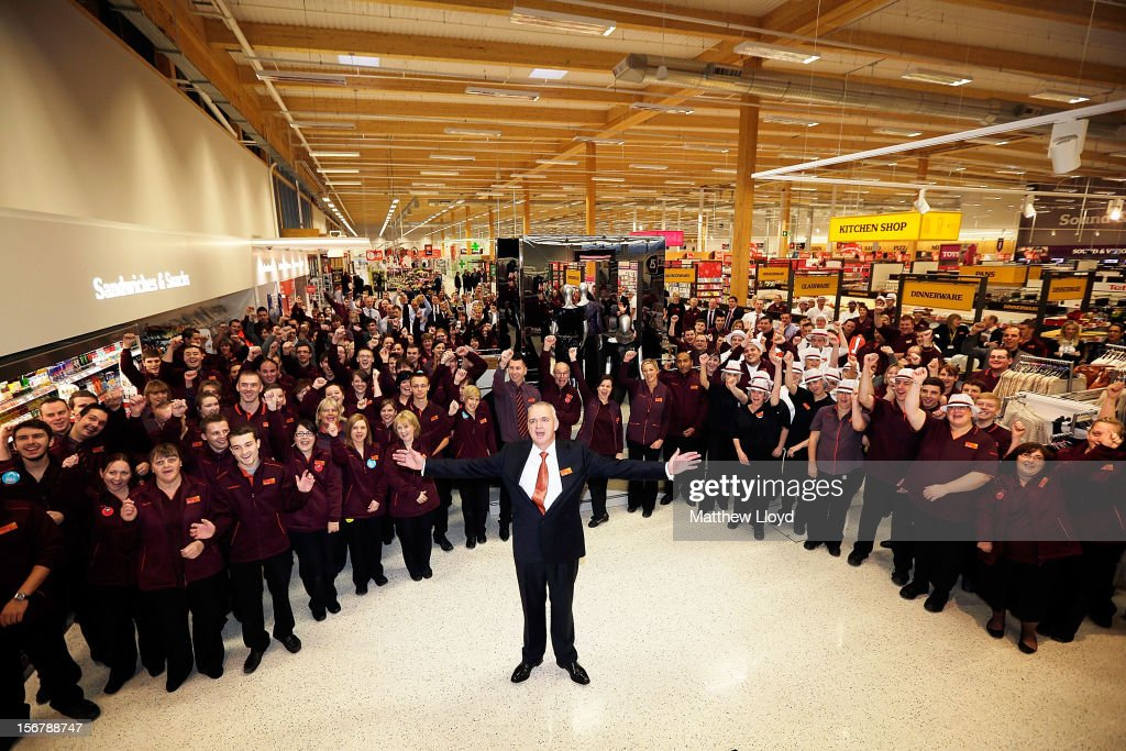 Chris Pardoe, manager of Sainsbury's new Kings Lynn supermarket, officially opens one of the retailer's most energy efficient stores on 21 November in Kings Lynn, England. The 72,000sq ft store has created over 400 new jobs for local people and opens on the day Sainsbury's reveals findings that shopping lists, better meal planning and rising expectations signal new fashioned values of post-crunch shoppers.