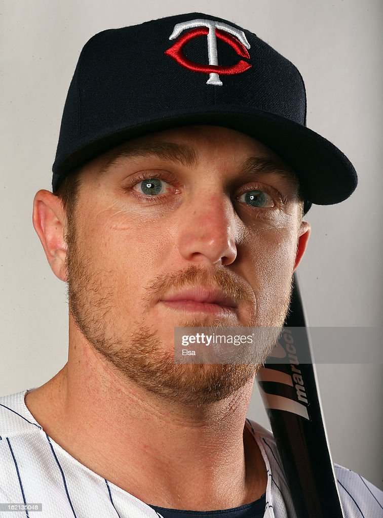 Chris Parmelee #27 of the Minnesota Twins poses for a portrait on February 19, 2013 at Hammond Stadium in Fort Myers, Florida.