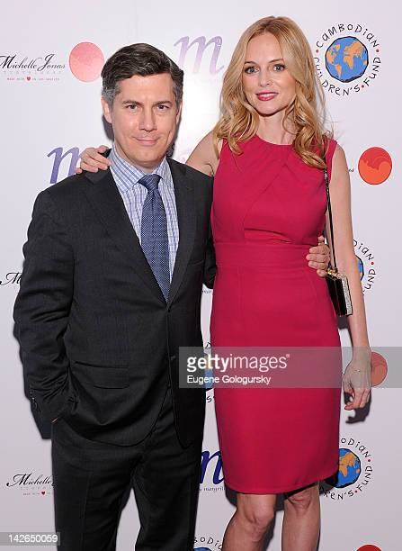 Chris Parnell and Heather Graham attend An Evening To Raise Awareness And Celebrate Cambodian Children's Fund at Tribeca Rooftop on April 10 2012 in...