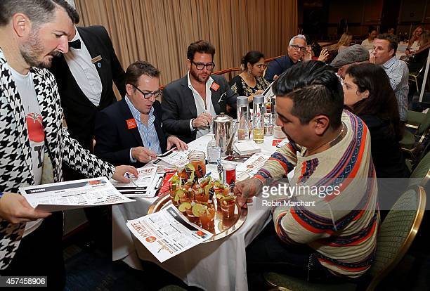 Chris Patino Ted Allen Scott Conant Maneet Chauhan Geoffrey Zakarian Marc Murphy Chris Santos Alex Guarnaschelli and Aaron Sanchez with Absolut Vodka...