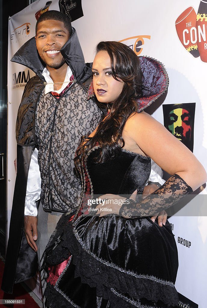 Chris Paul and Jada Crawley attend Los Angeles Clipper Matt Barnes' 'Welcome Back To LA' Post-Game Halloween Party at The Conga Room at L.A. Live on October 31, 2012 in Los Angeles, California.