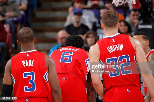 Paul DeAndre Jordan and Blake Griffin of the Los Angeles Clippers ... Matt Barnes Clippers 2017