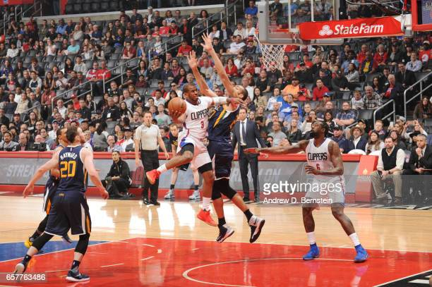 Chris Paul of the LA Clippers during a game against the Utah Jazz on March 25 2017 at STAPLES Center in Los Angeles California NOTE TO USER User...