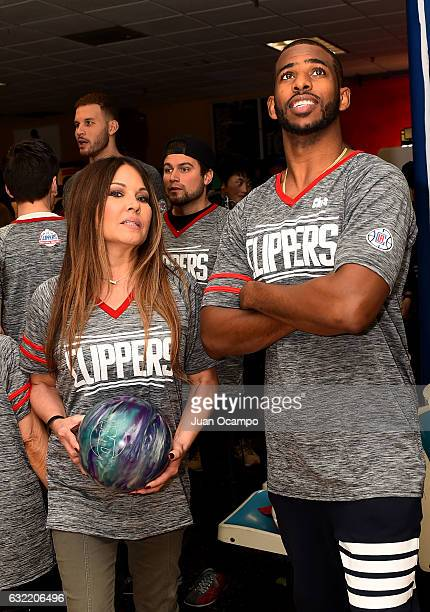 Chris Paul of the LA Clippers participates during the LA Clippers Foundation Hosts Annual Charity Basketbowl Challenge Presented by Children's...