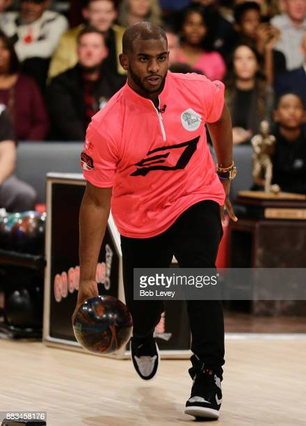 Chris Paul of the Houston Rockets attends the State Farm Chris Paul PBA Celebrity Invitational at the Bowlero Woodlands on November 30 2017 in The...